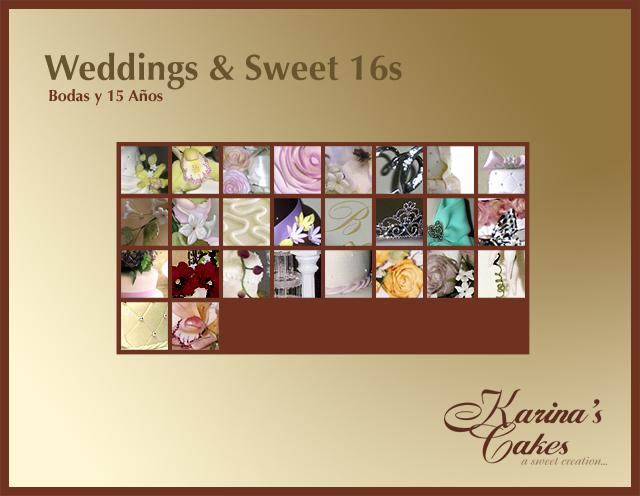 Karina's Cakes-Weddings & Sweet 16s Gallery